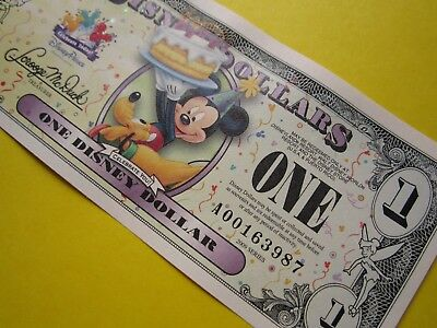 ZIPPY'S MINT Disney Dollars 2009 * A00163987 * Mickey & Pluto $1