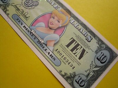 ZIPPY'S MINT Disney Dollars 2007 * A000163434* CINDERELLA  * $10