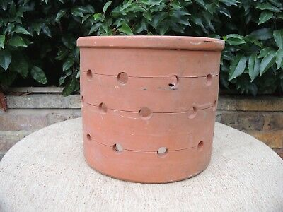 "Rare Old Vintage French Terracotta Orchid  Pot  Plant Pot 12"" Diameter (802)"