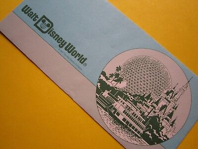 ZIPPY'S MINT Disney Dollars *** Walt Disney World BLUE Envelope *** Epcot Center