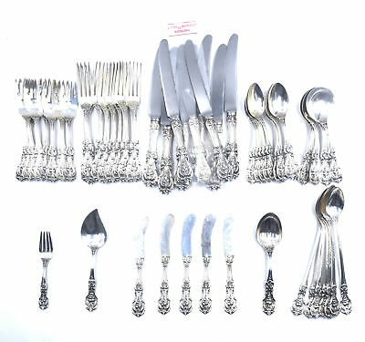53 Pcs Reed & Barton Francis I Flatware Set Service For 8 Sterling Silver Extras