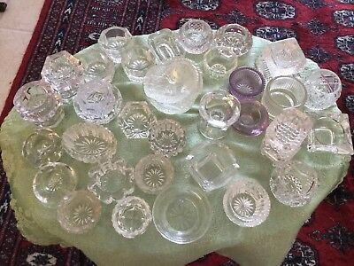 39 Pcs Vintage Pattern Glass Individual Salts
