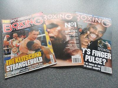 Boxing Monthlies. May 1989 (Number One). Feb. 2004. May 2009. (20th Anniv ).