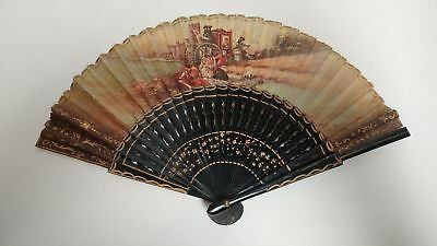 Eventail Ancien 19E - Antique French Fan 19Th Century
