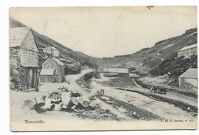 Cornwall postcard Boscastle
