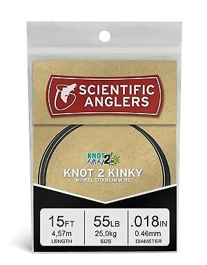 Scientific Anglers Fly Fishing  - Knot 2 Kinky Titanium Wire Leader