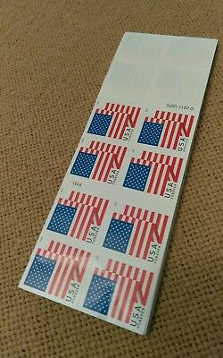 NO UPC!! $9.50 Free shipping!! Newest 2018 US Flag Forever Booklet of 20 Stamps