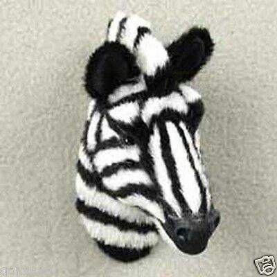 LIFELIKE ZEBRA FURLIKE MAGNET. (Handcrafted & Hand painted..Collectable) GIFT?