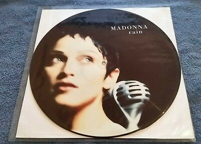 """Madonna – Rain - Single Sided, Picture Disc  12"""" Record UK 1993 EX-"""