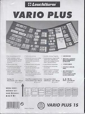(5) Lighthouse Vario Plus Pages - 1 Pocket - Black