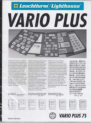 (5) Lighthouse Vario Plus Pages - 7 Rows - Black