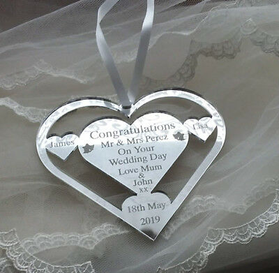 Wedding Day Heart Horse Shoe Personalised Keepsake Mr & Mrs Perez