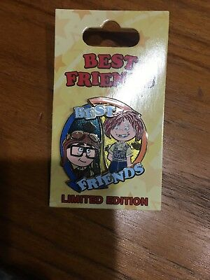 Disney Pixar UP Young Carl and Ellie Best Friends 2 Pin Set LE 3000