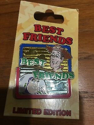 Disney ~ Best Friends WOODY and BUZZ LIGHTYEAR LE 3000 Pin NEW on Card TOY STORY