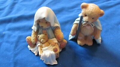 """Cherished Teddies """"A Baby Is God's Gift Of Love"""" Josh, Maria and Baby Christmas"""