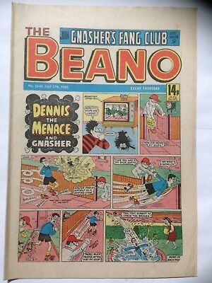 DC Thompson THE BEANO Comic. Issue 2245. July 27th 1985. **Free UK Postage**