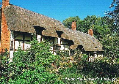 Postcard England GB UK Stratford-upon-Avon Anne Hathaway's Cottage Shakespeare