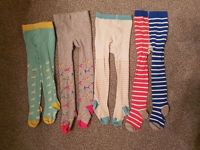Great *Boden* four pairs of girls tights - rabbits, horses, stripes *2-3 yrs*