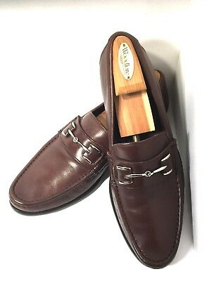 02a304fc8d4 Cole Haan Nikeair Slip On Horse Bit Loafer Dress Shoes Mens Brown Leather  11M