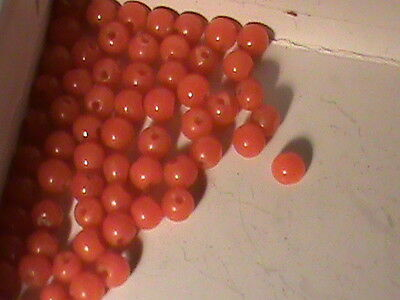 72 Fine Natural RED Mediteranean Coral Beads 2 MM Red Coral Seed Beads NICE !!