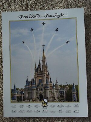 """Hard to Find  Official 2018 US NAVY BLUE ANGELS  11""""x 14"""" PRINT LITHO"""