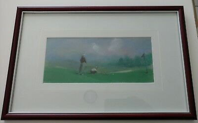 """Paul A Gatto Original Pastel Drawing Titled """"Lining Up"""""""