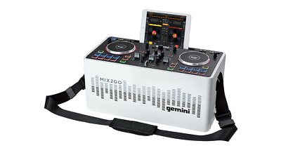 Gemini MIX2GO PORTABLE BLUETOOTH SPEAKER WITH DJ MIXER & PARTY LIGHTS