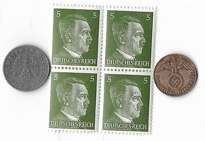 Rare Old German WWII Coin Stamp Great War Unique Deutsches Reich Collection Lot