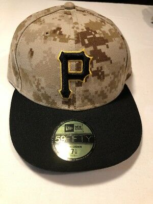 competitive price 9c85a e308b Pittsburgh Pirates Memorial Day New Era 59Fifty Fitted Camo Hat 7-1 8 Low