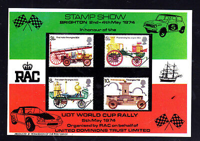 GREAT BRITAIN #716-719a   1974  BRIGHTON STAMP SHOW   MINT  VF NH  O.G  S/S