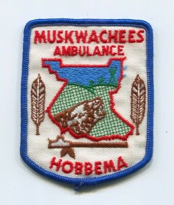 Muskwachees Ambulance Hobbema Ems Patch Canada Alberta Emt Paramedic Old Used