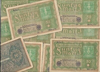 Rare 100 Years Old German Post War Berlin Germany Reichsmark Collection Big Lot