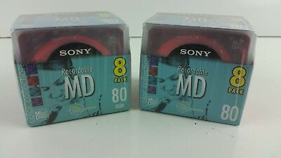 SEALED (NOS) Sony Color collection  Recordable MD 2x 8 packs Hard to Find