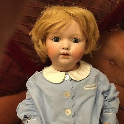 LOVELY LARGE ANTIQUE  GERMAN BISQUE-HEAD CHARACTER BABY - MELITTA/14 - 27 inches
