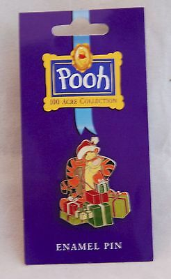 Retired Disney Tigger with presents from the 100 Acre Collection Pin