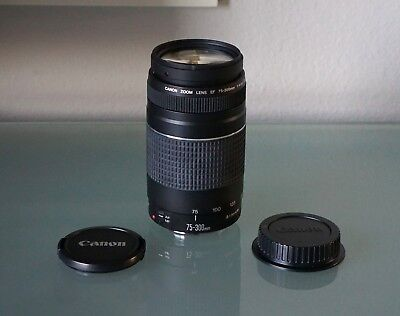 Canon EF 75-300mm f/4-5.6 III Telephoto Zoom Lens for Canon SLR Cameras ~MINT