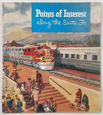 4 Santa Fe ATSF publications Along The Route, The Railroad & Points of Interest