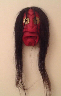 vintage Iroquois false face mask drooping mouth