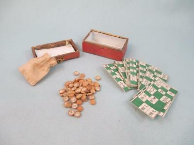 Antique for French Bebe Bisque Doll Poupee Accessory *Loto* Miniature Game