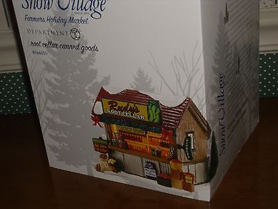 Dept. 56- Snow Village -Farmer's Holiday  Market--Root Cellar Canned Goods-New