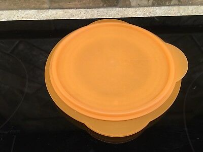 (Tupperware 5453 Orange Flat Out Space Saving Collapsible Bowl with 5455 Seal
