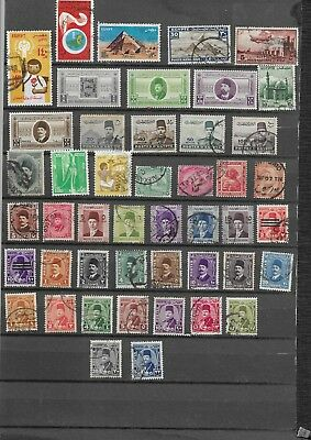 Egypt. Selection Of 46. Mint No Gum To  Fine Used. .  As Per Scan