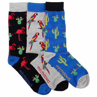New Men's Assorted Birds 3 Pack Socks Gift Box  by Mitch Dowd