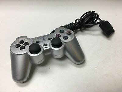 Official Sony Playstation 2 OEM SCPH-10010 Silver PS2 Controller