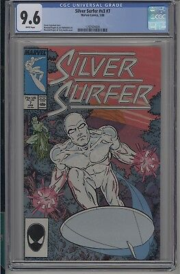 Silver Surfer #7 CGC 9.6 NM+ White Pages Marvel 1988