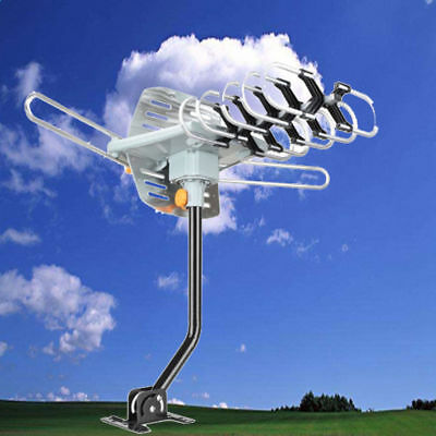 150Mile HDTV 1080P Outdoor TV Antenna Amplified Digital 360° Rotation with Pole
