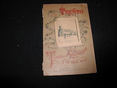 Old Vintage Trento Italy Tours and Landscapes Travel Brochure Booklet