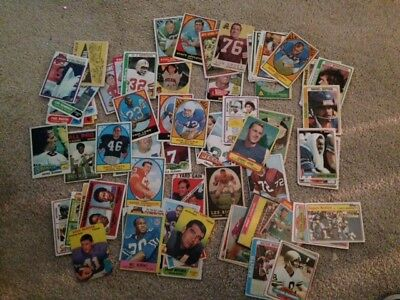1950's, 1960's 1970's 1980's Football Cards lot of 70!!!
