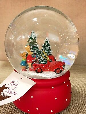 NEW Christmas Tree Snow Globe WaterGlobe Winter Red Truck Reindeer Home Decor