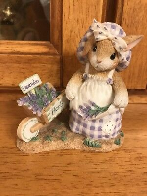 """MyBlushing Bunnies """"Take Thyme to Savor What You've Sown"""" Enesco Figurine"""